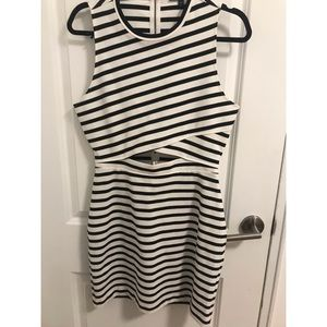 Striped dress with cut out